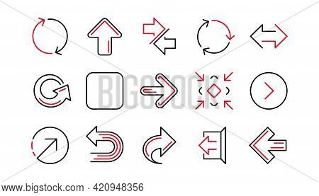 Arrow Icons. Download, Synchronize And Share. Navigation Linear Icon Set. Linear Set. Quality Line S