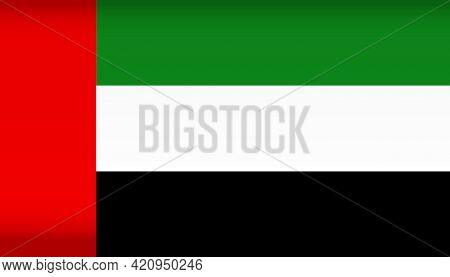 Vector Flag Of Uae. Color Symbol Isolated