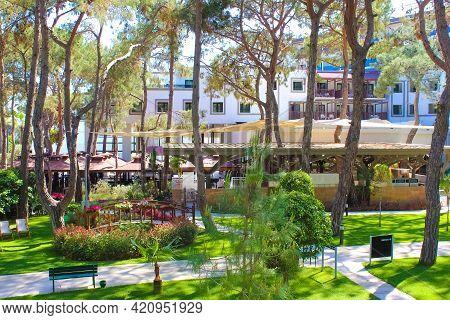 Goynuk, Antalya, Turkey - May 11, 2021: Panorama Of Seven Seas Hotel Life Ultra All Inclusive And Ki
