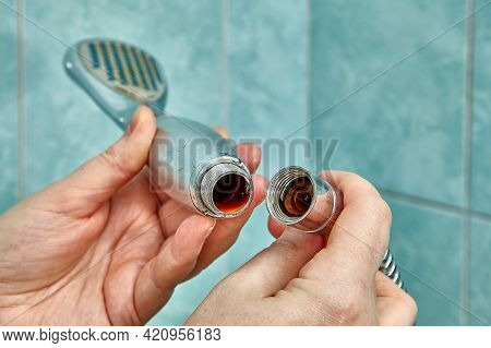 Defective Shower Head Needs To Be Replaced With New One.