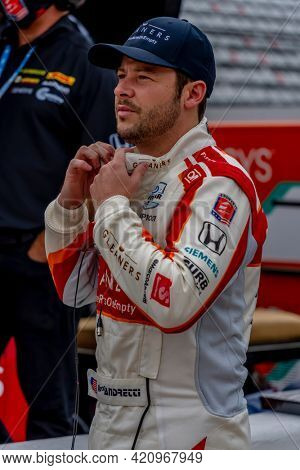 May 18, 2021 - Indianapolis, Indiana, USA: MARCO Andretti (98) of the United States practices for the 105th Running Of The Indianapolis 500 at the Indianapolis Motor Speedway in Indianapolis, Indiana.