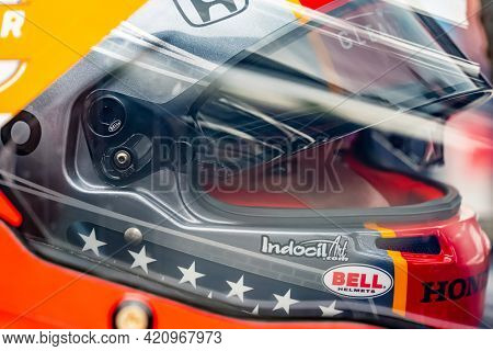 May 18, 2021 - Indianapolis, Indiana, USA: MARCO Andretti (98) of the United States prepares to practice for the 105th Running of The Indianapolis 500 at the Indianapolis Motor Speedway