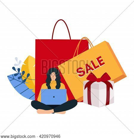 Shopping Bag Design Background. High Quality Filled Shopping Bag Icon On White Background. Shopping