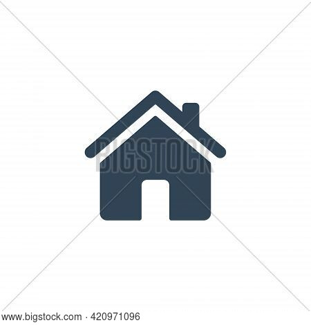 Home Icon. House Black Pictogram. Home Page Concept. Building Silhouette Symbol. Vector Isolated On
