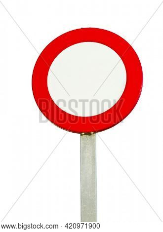 Speed limit traffic sign left blank, you can add any number, or use as no entry sign