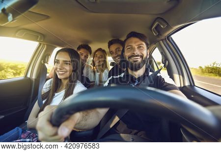 Autotourism. Holidays And Vacations. Car Ride, Auto Journey. Just Keep Driving.