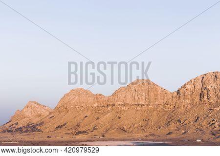 Jebel Al Fayah (al Faya) Mountain Range In Mleiha, Sharjah, United Arab Emirates, Rocky And Barren M