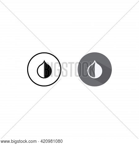 Invert Colors Icon Vector In Flat Style Isolated On White Background