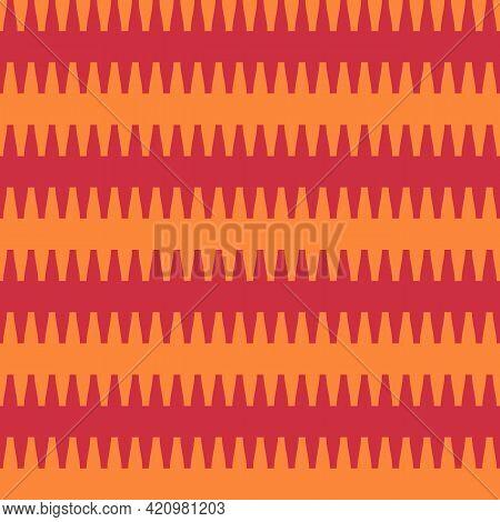 Zigzag Lines Ornament. Seamless Pattern. Jagged Stripes Motif. Waves Ornate. Curves Image. Wavy Figu