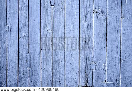 Obsolete Weathered Cracked Blue Painted Wood Background
