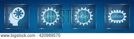 Set Human And Virus, Corona Virus Covid-19, Corona Virus 2019-ncov And Corona Virus Covid-19. Square