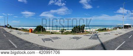 Waterfront And Beach View Of Barra Da Tijuca In Rio De Janeiro Brazil.