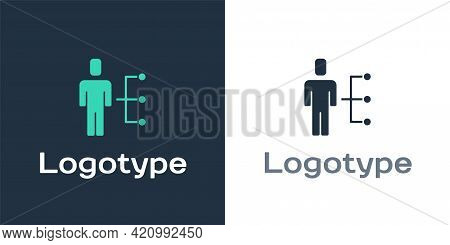 Logotype User Of Man In Business Suit Icon Isolated On White Background. Business Avatar Symbol User