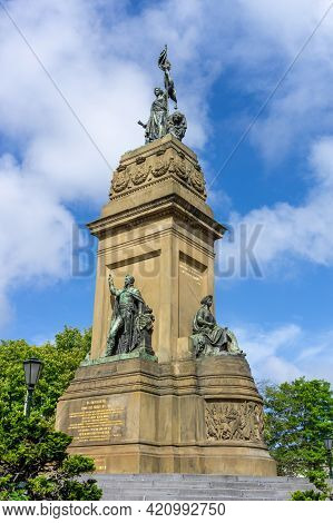 View Of The Independence Monument In Den Haag
