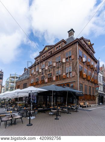 View Of The Historic Hotel And Restaurant 't Goude Hooft In Downtown Den Haag