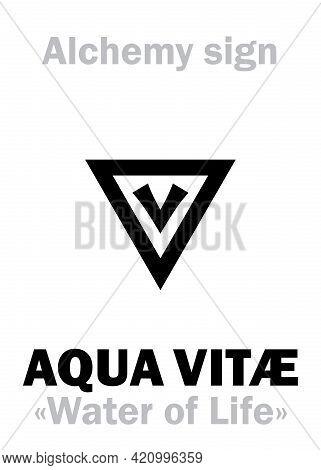 Alchemy Alphabet: Aqua Vitae (aqua Vitae
