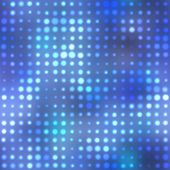 Blue halftone dots in rows. A funky and modern looking background texture. poster