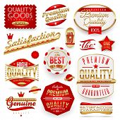 Guaranteed and quality -  vector signs, emblems and labels poster