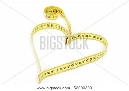 Tape Measure Heart Shape