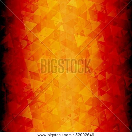 Fiery abstract triangle background vertical
