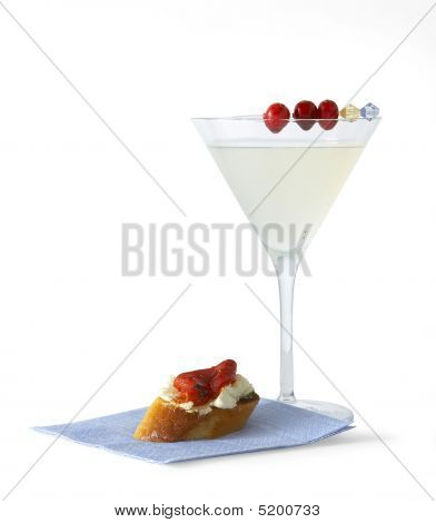 Martini Glass And Appetizer