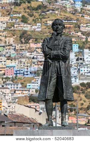 Statue Of Eugenio De Santa Cruz