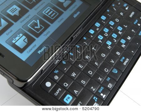 Smart Phone Qwerty Keypad Perspective View