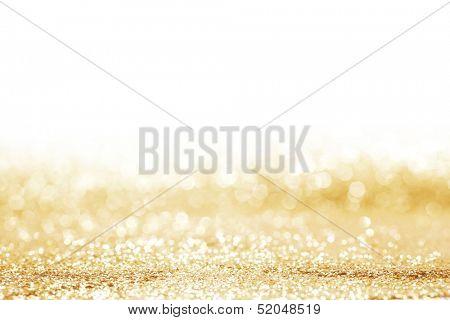Golden shiny glitter holiday celebration background