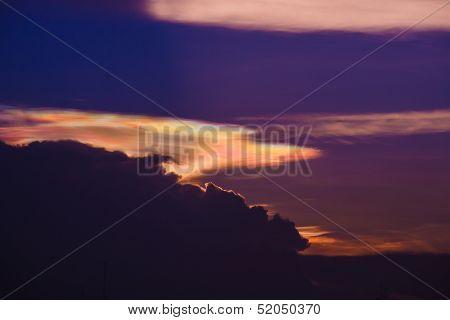 Iridescent Pileus Cloud