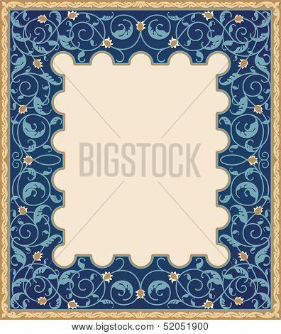 High detailed islamic art frame