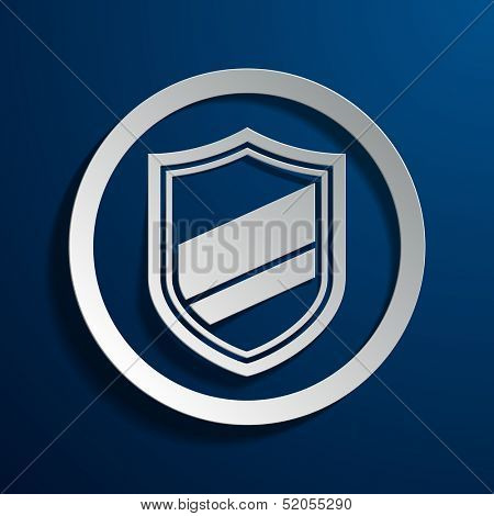 Vector illustration of shield icons