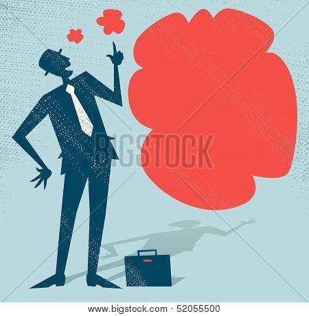 Abstract Businessman has an Idea