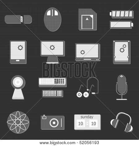 Electronic Device Icon On Dark Background
