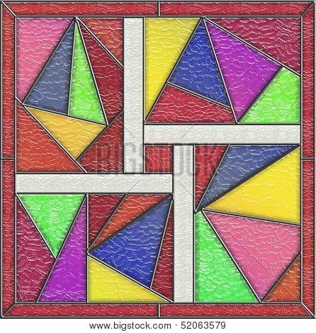 Geometric Glass Window