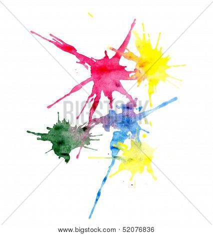 Multi-colored Blots