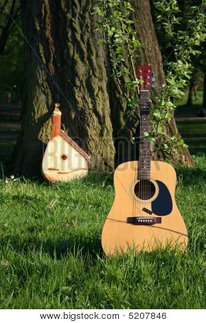 Old And New Guitar