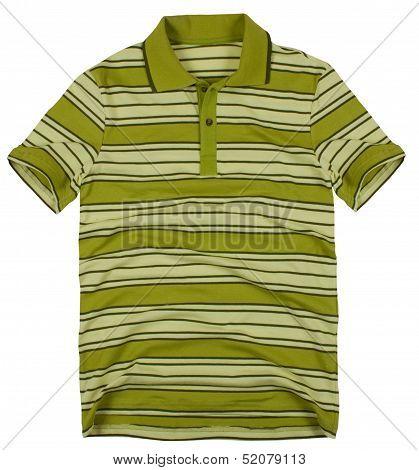 Polo shirt isolated on white background.