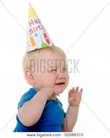 Unhappy Birthday Boy