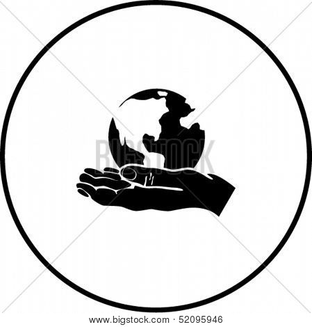 world in the hand symbol