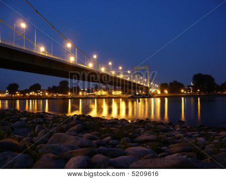 Bridge At Night In Cologne