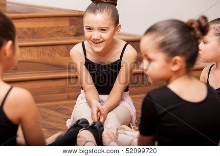 Having fun during dance class