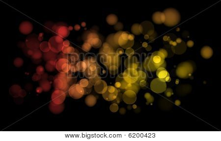 Glowing Christmas Light Abstract Background - Merry Christmas And Happy New Year