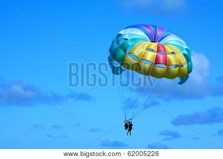Parasailing Above Bavaro Beach