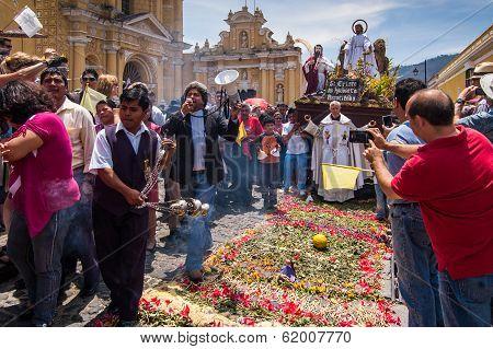 Easter Sunday procession, Antigua, Guatemala