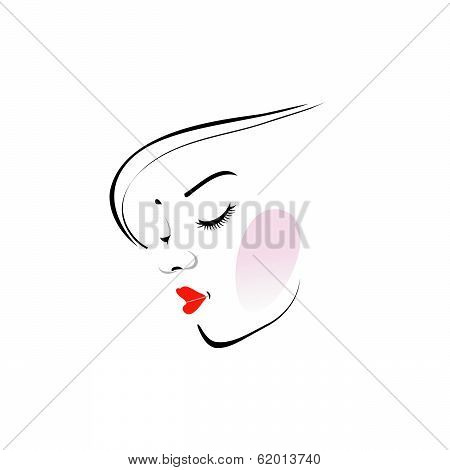 Stylish woman wearing a red lipstick