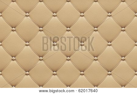 Seamless Beige Leather Upholstery Pattern
