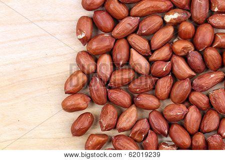 Close up of peanuts.