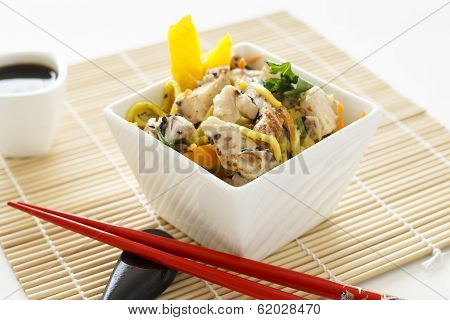 Sesame Chicken Noodle Salad