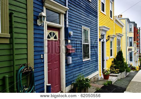 Colorful houses in St. John's, Newfoundland, Canada