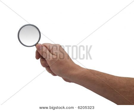 Hand & Magnifying Glass